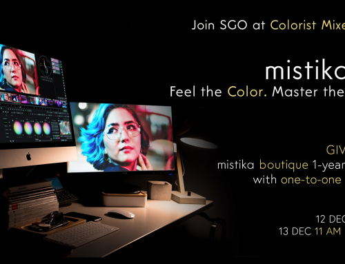 Join SGO at Colorist Mixer 2020 and a chance to win Mistika Boutique with one-to-one training from a Mistika Expert