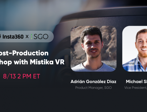 Up next: VR Post-Production Workshop with Insta360 and Mistika VR